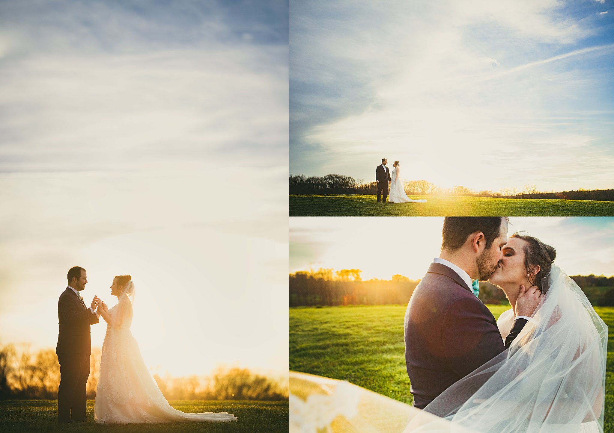 Atlanta Wedding Photographers West Milford Farms Sunset Wedding