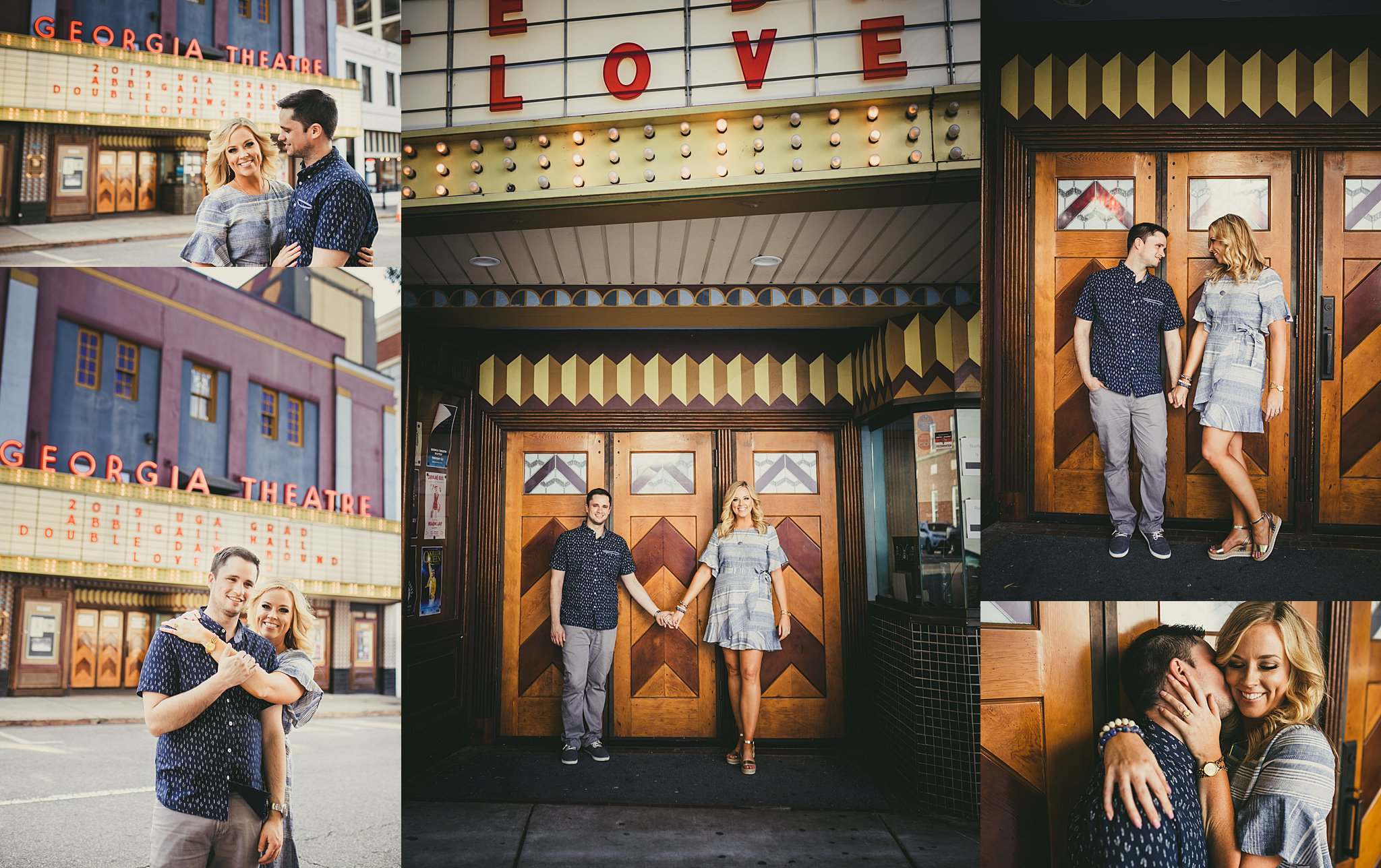 AtlantaWeddingPhotographers Athens Engagement Session Georgia Theater