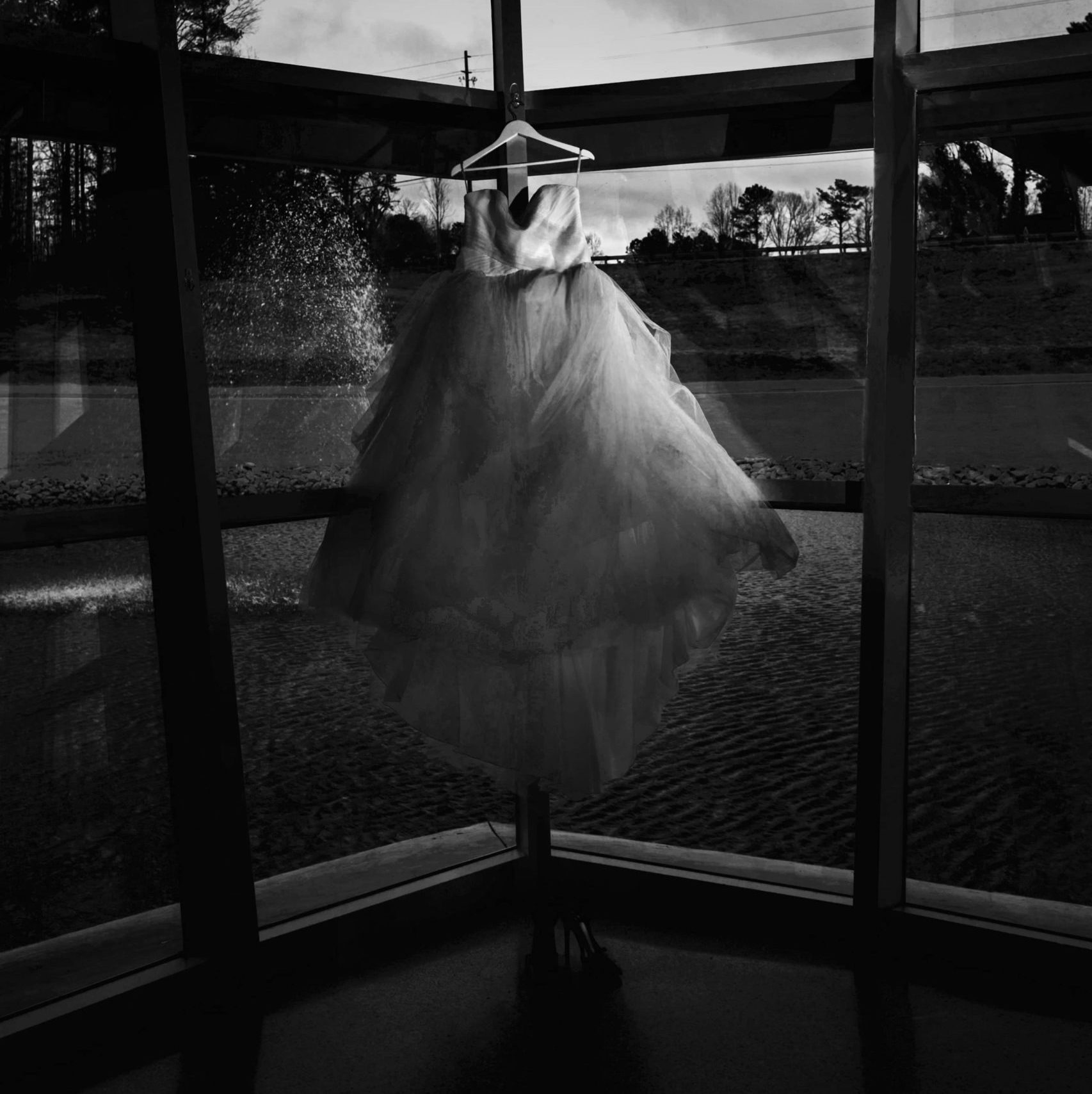 Atlanta Wedding Photographers Dramatic Dress Shot