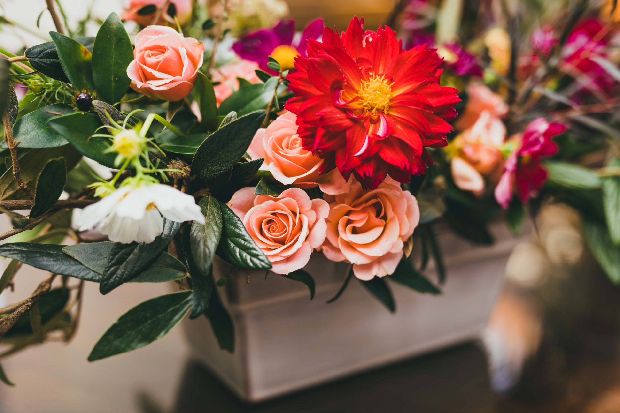 Moss + Clay Floral Design Wahoo Grill Wedding Atlanta Wedding Photographers Love & Story