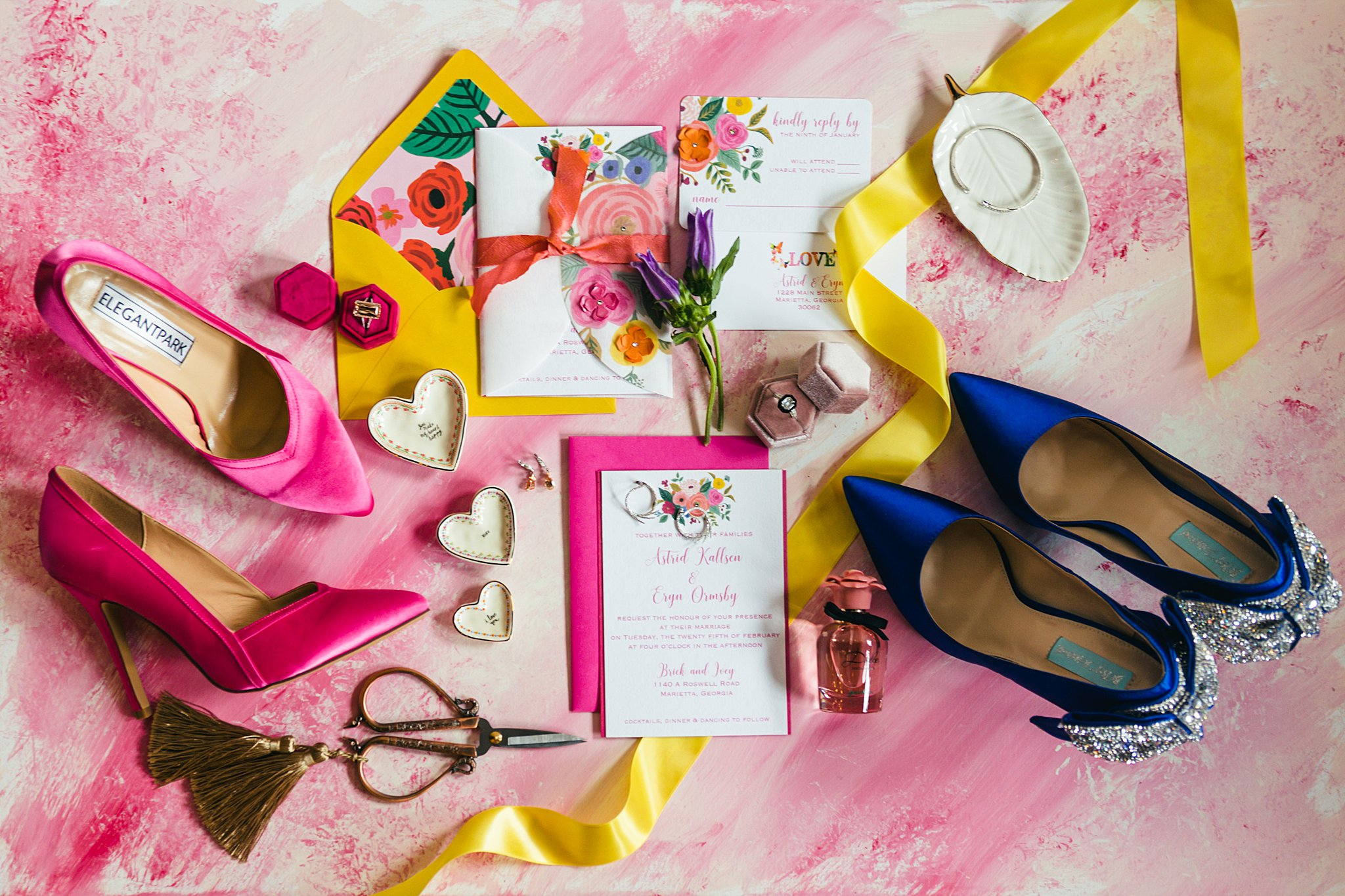 Bright and Colorful Wedding Inspiration Atlanta Wedding Photographers